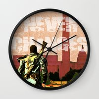 fallout Wall Clocks featuring Fallout 3 by Dayle Kornely