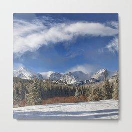 Winter Rocky Mountain Park Panorama Metal Print