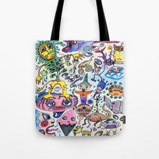 Airplane Doodle Tote Bag