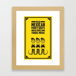 Hector, the tribal dancer. Framed Art Print