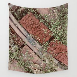 Little Leaves & Red Bricks Wall Tapestry