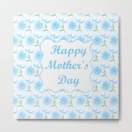 Mother's day. Mom! I love you! beautiful flowers, macaroons Metal Print