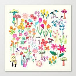 The Odd Floral Garden I Canvas Print
