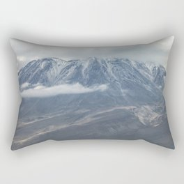 Close up view of volcano Chachani Rectangular Pillow
