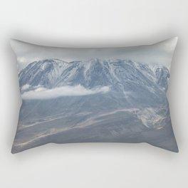 Close up view of volcano Chachani Rectangular Pillow
