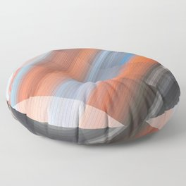 Rapid Transit. Abstract gradient art geometric background with soft color tone, cell grid. Ideal for Floor Pillow