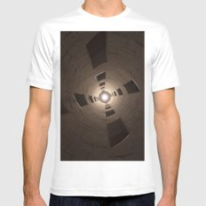 Chambord Castle - Stairs MEDIUM Mens Fitted Tee White