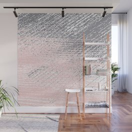 Pink Pastel and Grey Background Wall Mural