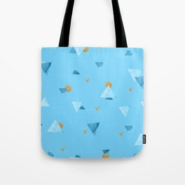 Aqua Triangles Tote Bag