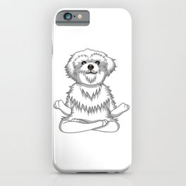Paws and Meditate iPhone Case