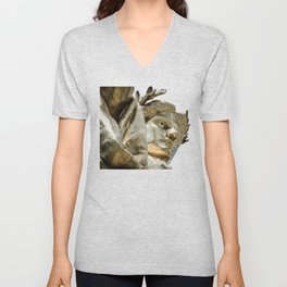 Face of the Golden Lady Republic Statue Chicago Unisex V-Neck