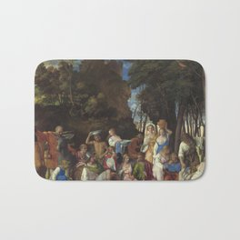 Giovanni Bellini and Titian The Feast of the Gods 1514 1529 Painting Bath Mat