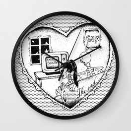 """gum - moose blood"" Wall Clock"