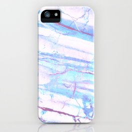 Pastel Marble with Blue Green Purple iPhone Case