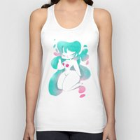 pinup Tank Tops featuring Blue pinup by MissPaty
