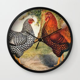 Colorful Chickens | Bunte Hühner Wall Clock