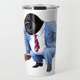 A gorilla tired from business Travel Mug