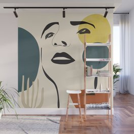 Abstract Face I Wall Mural