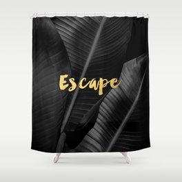 Escape - gold Shower Curtain
