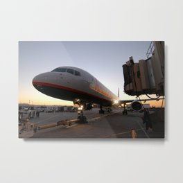 America West Airlines 757 at gate Metal Print