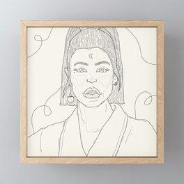 February B&W. Framed Mini Art Print