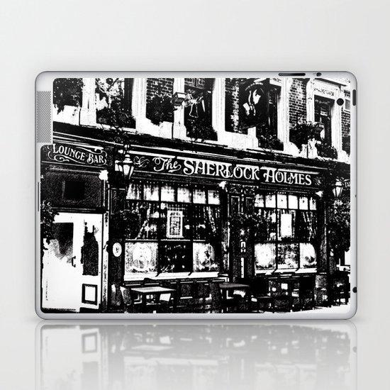 Sherlock Holmes Pub Sketch Laptop & iPad Skin