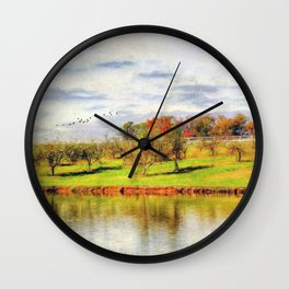 Across the Pond Wall Clock