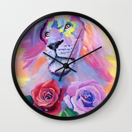 Proud Lion Wall Clock