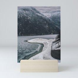 Frozen Mountain Landscape Mini Art Print