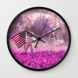 Exploring new Worlds Wall Clock