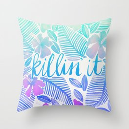 Killin' It – Turquoise + Lavender Ombré Throw Pillow