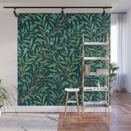 Midnight leaves Wall Mural