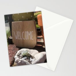 Welcome Home Little Succulent Stationery Cards