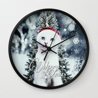 xmas Wall Clocks featuring ~Xmas by SOPHIA FREITAS