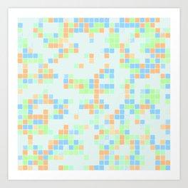 Colored Pool Squares Art Print