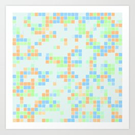Colored Pool Squares Art Print