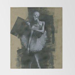 The Dark Dancer Throw Blanket