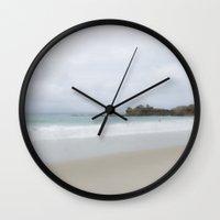 swim Wall Clocks featuring Swim by Hilary Upton