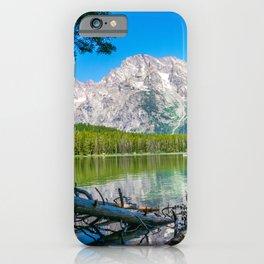 Grand Teton Lake Hike Wyoming Print iPhone Case