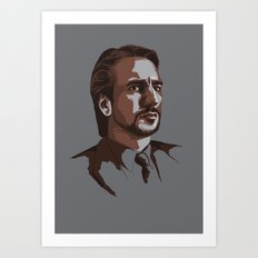 Villains: Hans Gruber Art Print