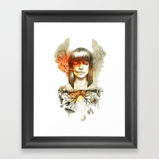 Evil's Smoke Framed Art Print
