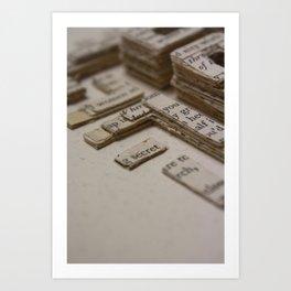 Book Art Maze 2 Art Print