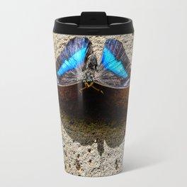 Blue Morpho Butterfly by Teresa Thompson Travel Mug