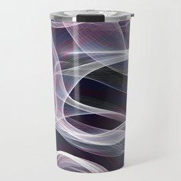 Moody & Beautiful Smoky lacy flux - black, blue, pink #abstractart Travel Mug
