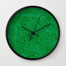 Scratched Green Wall Clock
