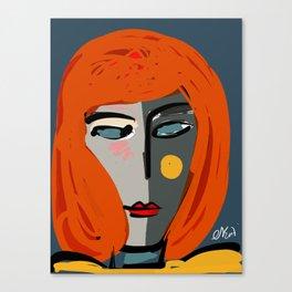 Mysterious Girl Portrait Stefania Style Art Canvas Print