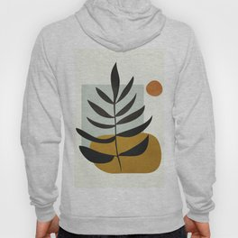 Soft Abstract Large Leaf Hoody