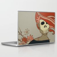 death Laptop & iPad Skins featuring Death by Willow Dawson