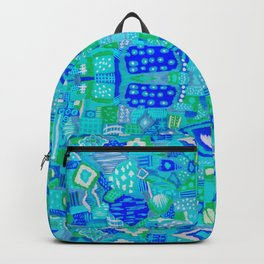 Boho Patchwork in Cool Tones Backpack
