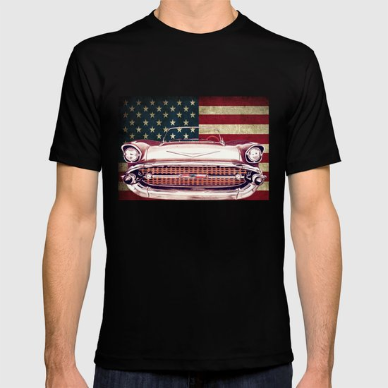 chevrolet bel air 1957 t shirt by diego abelenda society6. Black Bedroom Furniture Sets. Home Design Ideas